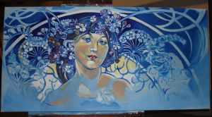 mucha paint by always-foreverlilly