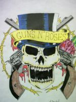 GUNS N' ROSES SKULL by S-Isabel