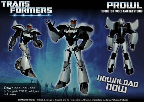 TFP Prowl for Poser + MMD link by RazzieMbessai