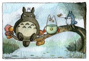 Totoro Fan Art by Vannara