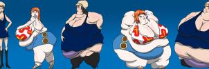Nami and Robin 123 Weight Gain Sequence by ExtraBagageClaim