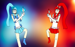Sailor Alpha and Sailor Omega by Trevor911