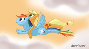 Together in the sky by RuberPhoenix