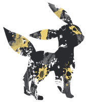 Umbreon Paint Splatter Graphics by HollysHobbies
