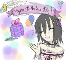 Happy Birthday Lily! by Darkkitty123