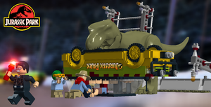 LEGO Jurassic Park - T-Rex Attack by TLK4EVR