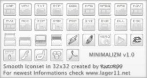 Iconset 'Minimalizm' by Razor99