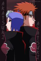 Pain and Konan by crosscutter