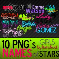 .1O Png pack: Names of stars by RetroRock