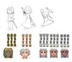 MToL Protagonist Concepts and sprites by pommyman