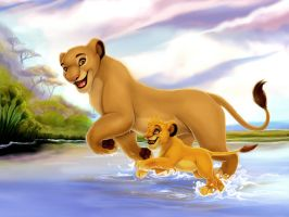 Simba and Sarabi by WingsofaButterfly202