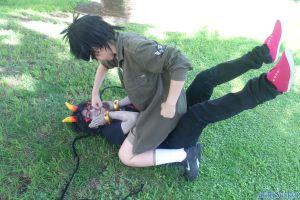 Hitler Fish! - Meenah and Jake - Homestuck cosplay by akiuSerket