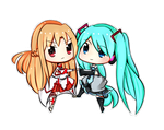 CE ASUNA AND MIKU by iiDolphinx3