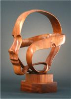 Ribbon Head Wood by InspireIn3D