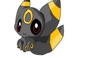 Umbreon in MS Paint by Chaomaster1
