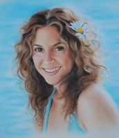 Shakira Portrait Painting by SpringzArt