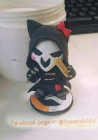 overwatch cat Reaper clayart by flowerrain1612