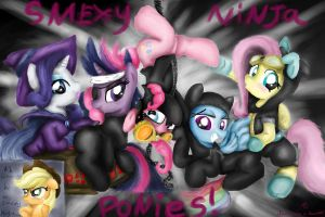 Smexy Ninja Ponies! by AquaticSun