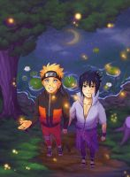 Sasuke x Naruto for Ariane by Flipsi