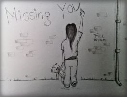 Missing you - drawing - by moonix-20