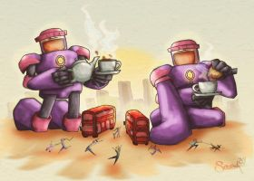 Sentinels Tea Party by Cookiepoppet