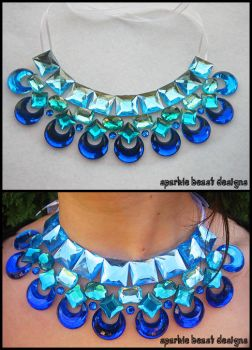 Blue Moon Rhinestone Necklace by Natalie526