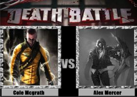Death Battle idea Cole Mcgrath vs Alex Mercer by kingdomofsantiago1