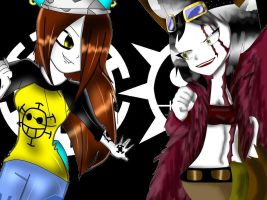 .:Collab:.-Kon And Candy-Cosplay-Kid And Law by XCandyTheFoxX