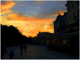 Plovdiv - Red Sky by MarcoFiorentini