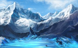 Ice borderlands by Enijoi
