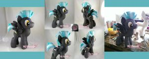 Thunderlane plushie (commission) by moggymawee