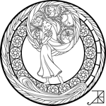 SG: Rapunzel: coloring page by Akili-Amethyst