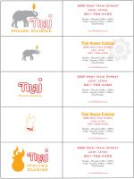 Thai Logo business cards by PopeyeFrancom