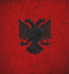 Albanian Flag by BlazeySunX