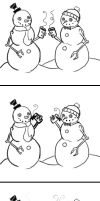 Snowman suicide by EvilCreampuff