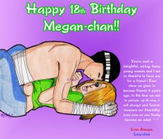 Happy 18th Birthday Megan-chan by zoro4me3