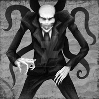 Scary Slender (With tentacles) by garnetbarren