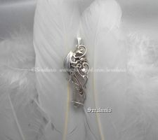 'Dragon soul', handmade sterling silver pendant by seralune