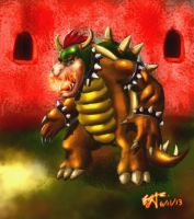 King Bowser by SpikeSilverscar