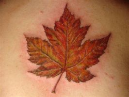 maple leaf tatt by CHICANOCHOP