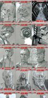 Star Wars 30 sketch cards by gattadonna