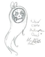 Scribble Of A Werid Halloween Ghost by Kittychan2005