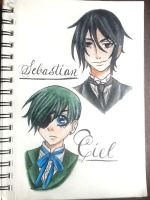 Ciel and Sebastian  by apolleo