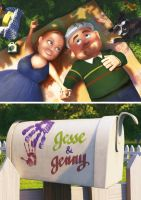 Jesse and Jenny (in the style of Pixar) by maichan-art