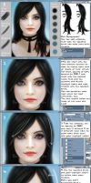 Tutorial: How to Paint Hair by ZombieSandwich