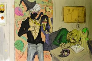 Kakashi no b-day party jutsu by Sanzo-Sinclaire