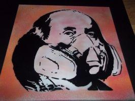 Ben Franklin spray mask by GHOSTZzArt