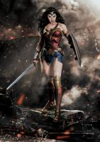 Batman v Superman : Dawn of Justice / Wonder Woman by GOXIII