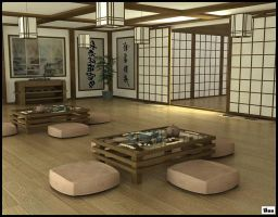 Japanese tea room by akdesignstudios