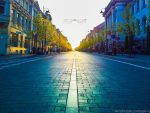 Light at the end of a road by minjod